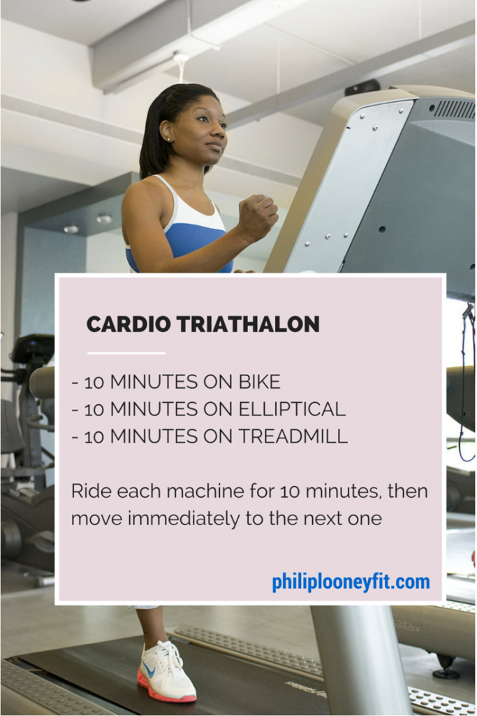 Break up the monotony of steady state cardio with a Triathlon!