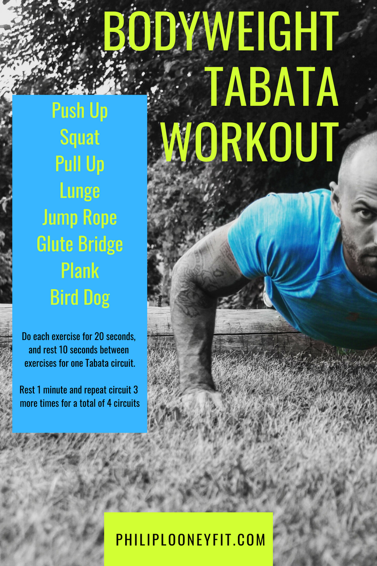 Use this personal trainer's 8 favorite bodyweight exercises in this awesome Tabata circuit!